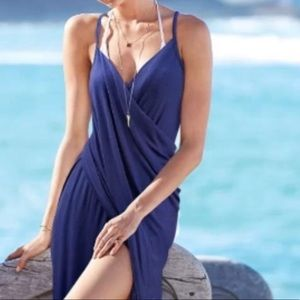 Victoria's Secret Blue Maxi Beach Wrap Cover Up